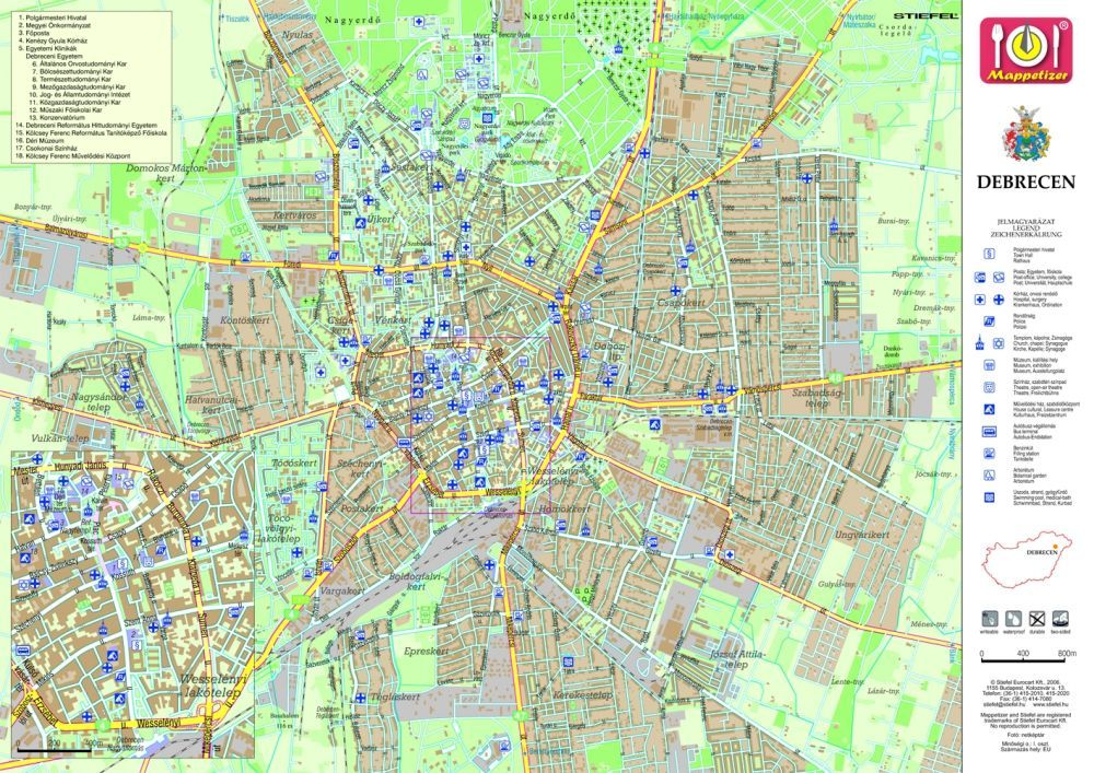 Debrecen Tanyeralatet Konyoklo Hatoldalon Debrecen Varosterkepe