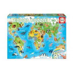 Educa Világtérkép puzzle - 150 db-os puzzle 48x34 cm