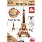3D Puzzle Eiffel torony Educa 22 darabos fa puzzle