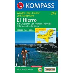 242. El Hierro turista térkép Kompass 1:30 000