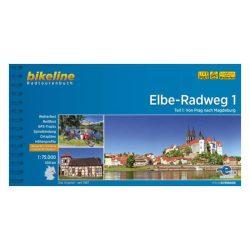 1. Elbe Radweg kerékpáros atlasz Esterbauer 1:75 000  Elba kerékpáros térkép
