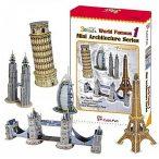 A világ híres építményei puzzle 1.   60 db-os 3D puzzle