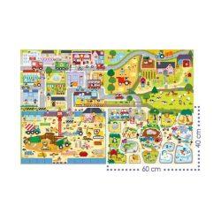 Építkezés puzzle gyerekeknek 12 db-os giga puzzle Trefl 40x27 cm