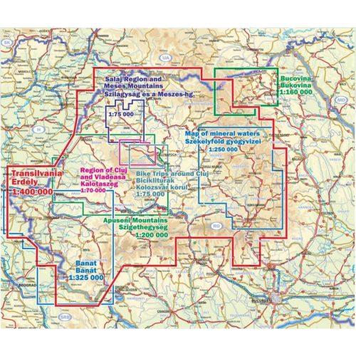 Erdely Hegyei Attekinto Terkepe Romania Turista Terkepek Erdely