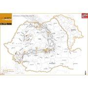 Erdély hegyei áttekintő térképe Schubert térképek, Erdély térképek,  Erdély turistatérképek