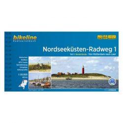 Nordseeküsten Radweg kerékpáros atlasz 1. Esterbauer 1:75 000 Észak-tengeri kerékpáros atlasz