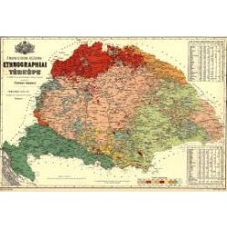 Magyar néprajzi térkép falitérkép MH 92x68  1 : 1 152 000