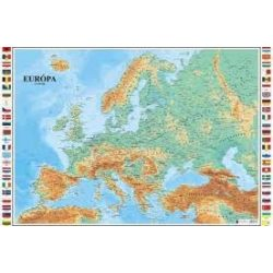 Európa dombortérkép Magyar Honvédség 1:5 500 000 119x83 cm
