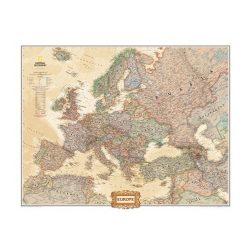 Európa falitérkép keretezett National Geographic  antik színű 123x98