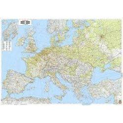 Európa falitérkép, Európa közlekedési falitérkép 1:3 500 000, (126 x 89,5 cm)  Freytag