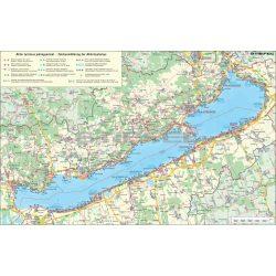 Balaton térkép, Balaton régió térképe falitérkép fémléces, fóliás 100x70 cm