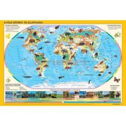 Állatos gyerek világtérkép, a Föld állatvilága gyermek térkép könyöklő 65x45 cm