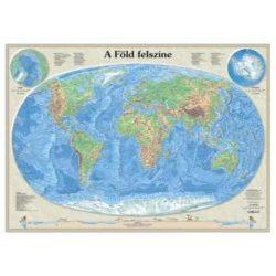 A Föld felszíne falitérkép, könyöklő Nyír-Karta  70x50 cm