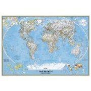 Világ országai falitérkép keretezett mágnessel jelölhető National Geographic 186x126 - kék színű