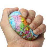 Földgömb labda szivacs labda földgömb 7,5 cm