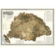 A magyar Szent Korona országainak földmívelési térképe 1895 Magyarország falitérkép antik Homolka 115x82 cm 1:900e
