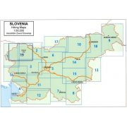 Szlovéniai turista térképek áttekintő térképe  Geodetski zavod  1:50 000