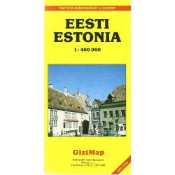 Észtország térkép Gizi Map 1:400 000