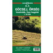 Őrség, Göcsej turista térkép Szarvas 2018 1:50 000 Göcsej, Őrség turista térkép