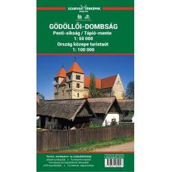 Gödöllő és Gödöllői-dombság turista térkép Szarvas kiadó 2019 1:50 000 Gödöllő és környéke túratérkép és kerékpáros térkép
