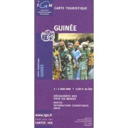Guinea térkép, Guinee térkép IGN  1:1 Mio. 87x66 cm