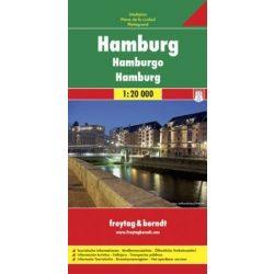 Hamburg térkép Freytag 1:20 000