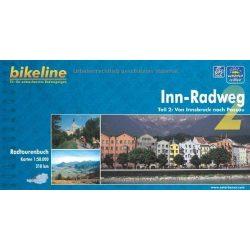 2. Inn Radweg kerékpáros atlasz Esterbauer 1:50 000   Inn kerékpáros térkép