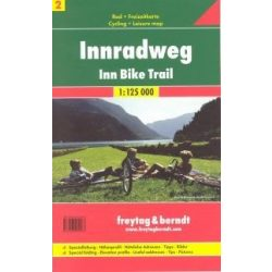 Innradweg Inn Bike Trail kerékpáros térkép Freytag & Berndt 1:125 000