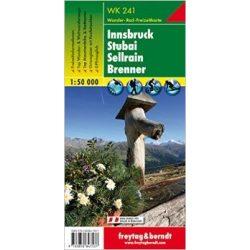 WK 241 Innsbruck, Stubai, Sellrain, Brenner turistatérkép 1:50 000