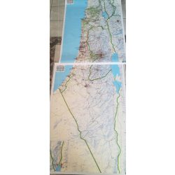 Izrael falitérkép Freytag  2 db-ból álló szett 120x100 cm /Együtt 240x100 cm/