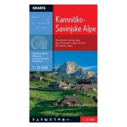 Kamniki Alpok turista térkép Sidarta 1:25 000 Kamniki Alpok térkép