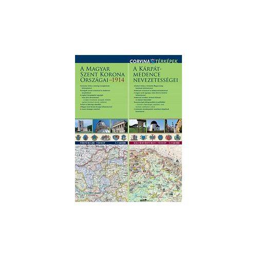 Kárpát-medence nevezetességei térkép hajtogatott Corvina 1:1 160 000 92x66 cm