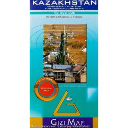 Kazasztán térkép Gizi Map 1:3 000 000