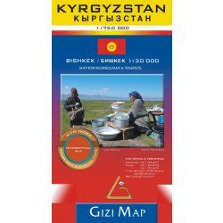 Kirgizisztán térkép Gizi Map 1:750 000
