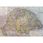 Magyarország térkép 1918. Magyarország falitérkép antik színű  1942 évi határokkal Kogutowicz Manó Topomap 110x79 cm