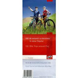 Kolozsvár környéke kerékpáros térkép Schubert 1:75 000
