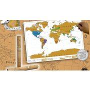 Kaparós világtérkép, kaparós térkép világutazóknak 88 x 52 cm angol nyelven