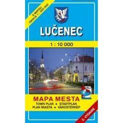 Losonc térkép Rimaszombat térkép 1:10 000 Mapa Mesta