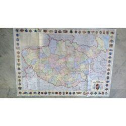 A Magyar Szent Korona országai falitérkép keretezett 1914  98x70 cm