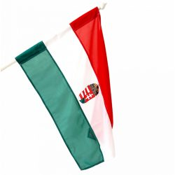 Magyar zászló címeres 90x150 cm Magyar nemzeti zászló címerrel