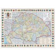 Szent korona országai falitérkép 1914 lefóliázva 126x86
