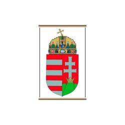 Magyarország címere faléccel fóliával 30x42 cm A Magyar Köztársaság címere