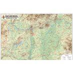 Magyarország domborzata falitérkép, könyöklő Nyír-Karta  70x50 cm