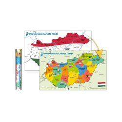 Kaparós Magyarország térkép, Magyarország kaparós térképe 88 x 52 cm