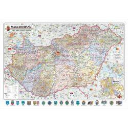 Magyarország falitérkép, Magyarország megyéi falitérkép, könyöklő Nyír-Karta  70x50 cm Magyarország közigazgatási térkép