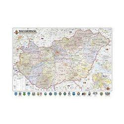 Magyarország falitérkép keretes közigazgatás és közlekedés Nyír-Karta  65x45 cm
