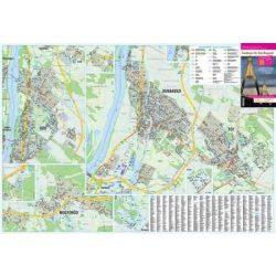 Dunakeszi térkép + Fót térkép, Göd térkép, Mogyoród térkép Stiefel falitérkép 1:15 000
