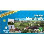 Radatlas Moststrase kerékpáros atlasz Esterbauer 1:75 000