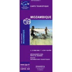 Mozambik térkép IGN 1:2 000 000