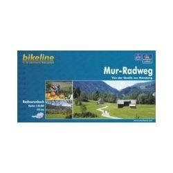 Mur-Radweg kerékpáros atlasz Esterbauer 1:50 000 Murau térkép kerékpáros Mura kerékpáros térkép